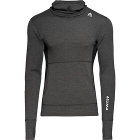 Aclima Warmwool Sweat à capuche Homme, marengo/jet black